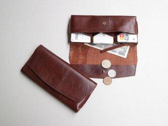 【RENEWAL】やわらかい革の長財布 DARK BROWNの画像