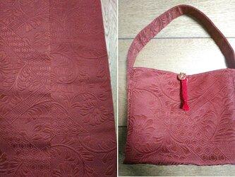 アップサイクル帯バッグ Upcycled Obi Bag 1908310009 ワンハンドル A4サイズの画像