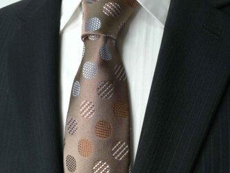 スティッチのドット柄が楽しいネクタイの画像