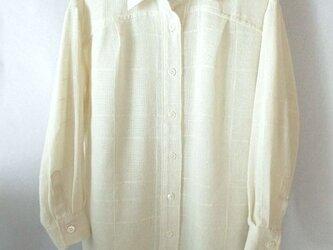 手織り木綿の生地で作ったシャツ(3)の画像