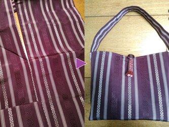 アップサイクル帯バッグ Upcycled Obi Bag 1908310006 ワンハンドル A4サイズの画像