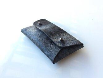 レオパード柄のカードケース・名刺入れ(ブラックパンテール)の画像