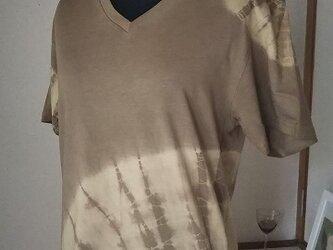 栗&胡桃染 オーガニックコットン Tシャツの画像