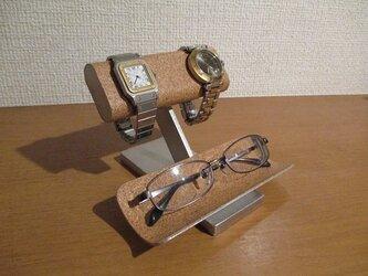 誕生日プレゼントにどうですか? だ円パイプ腕時計、眼鏡スタンド 181114の画像