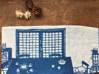 藍染め ブックカバー 「冬の始まり」の画像