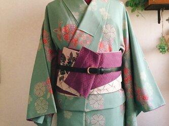 小紋 袷着物 桜柄 レデースMサイズの画像