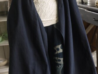 正絹紬反物2種カシュクールノースリーブ羽織の画像