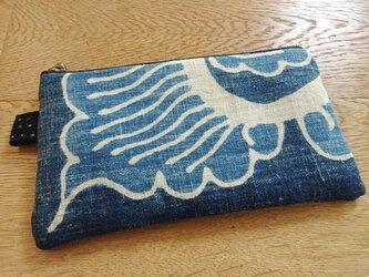 木綿を遊ぶミニポーチ(弐)の画像