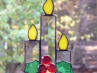 Christmas Ornament   ベベルグラスのキャンドルの画像