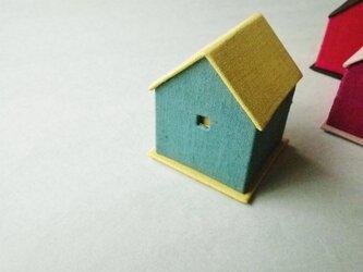 ハウス型リネンジュエリーボックス『グリーン』の画像
