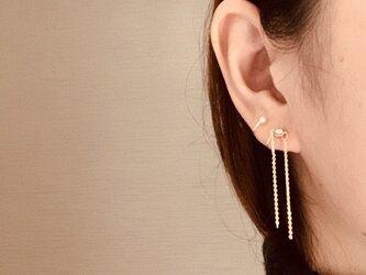 〔14kgf〕double line  片耳の画像
