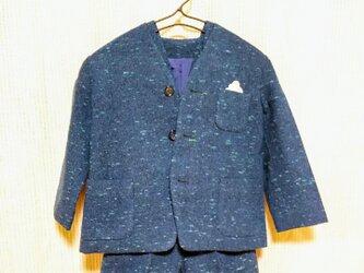 昭和レトロ 男の子用 スーツ あおの画像