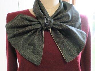 大島紬の リバーシブル変わりスカーフの画像