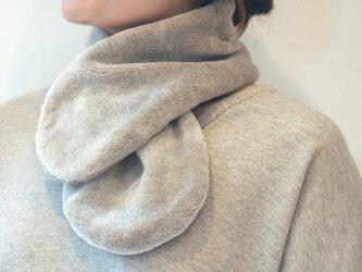 Organic Cotton Fur ヤク混グレージュ ふわふわネックウォーマーの画像