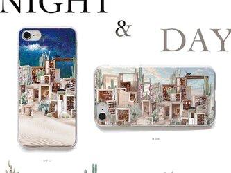 おさんぽネコin砂漠のサボテン図書館 プリントケース iPhone12Pro iPhoneケース各種 スマホケースの画像