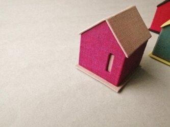 ハウス型リネンジュエリーボックス『パープル』の画像