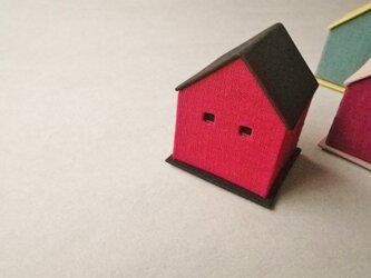 ハウス型リネンジュエリーボックス『レッド』の画像