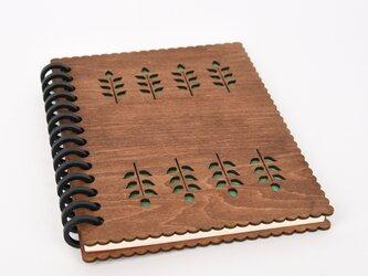 木のノートブックI グリーンズ(木製ルーズリーフ)の画像