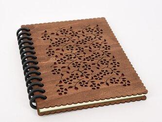 木のノートブックJ 草花(木製ルーズリーフ)の画像