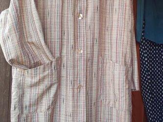 紬の着物でコート。の画像