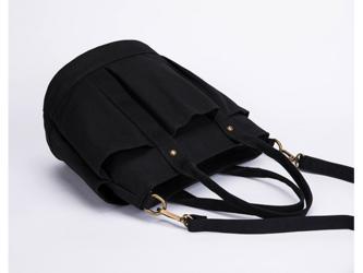 【0024黒】ポケットたくさん 2Way  しっかり キャンバス 帆布トートバッグ 可愛いショルダーバッグの画像