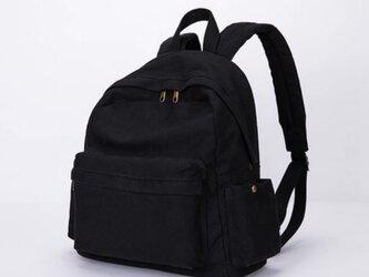【0028黒】大容量 2Way 帆布 キャンバスファスナー付きトートバッグ 可愛いリュック 大容量 男女兼用 旅行バッグの画像