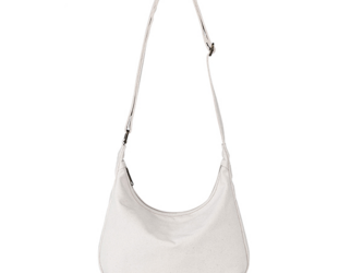 【0035生成り】 キャンバス 帆布  ファスナー付きバッグ 可愛いショルダーバッグ 便利 サブバッグの画像