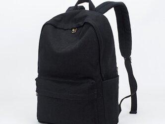 【0023黒】しっかり 帆布 生成り キャンバストートバッグ リュック 大容量 男女兼用 の画像