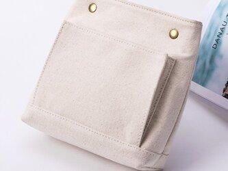 【セール】2600円→1600円【0006】持ち手付き 上質インナーバッグ 帆布 キャンバス 巾着 ポーチ バッグインバッグの画像