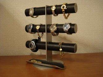 彼氏、お父さんにプレゼント 格好いい12本掛けブラック腕時計スタンド 12522 の画像