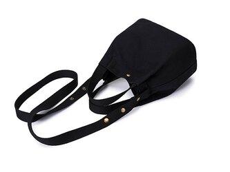 【0007黒】 2Way  キャンバス 帆布  可愛い巾着 ショルダー バッグ ミニバッグの画像