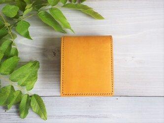 二つ折り財布 box-b  ワックス【受注製作】の画像