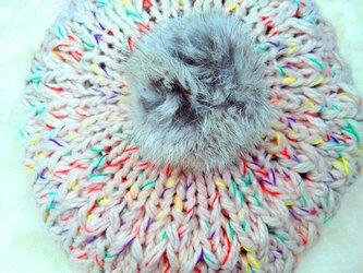 【Lady's】ほっこりあたたか冬帽子 鮮やかの画像