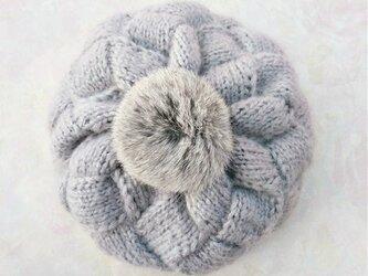 【Lady's】ほっこりあたたか冬帽子 グレーの画像