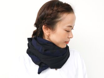 frame stole / BLACK ×navyの画像