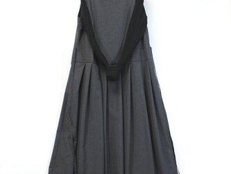 裏付きジャンパースカート(チャコールグレー)の画像