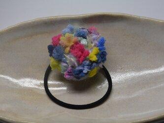 ヘアゴム・ミックス毛糸の画像