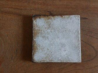 粉引き 小さめ四角皿の画像