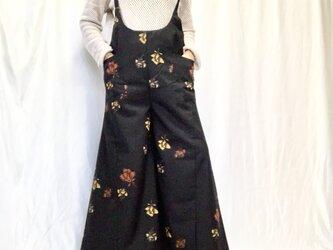 サロペットパンツ  de  着物  薔薇の画像