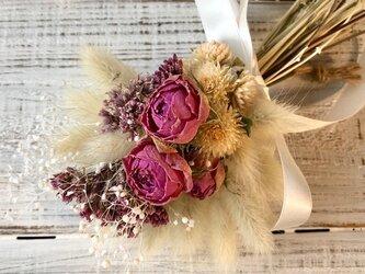 星月猫★「薔薇とフジバカマの小さなブーケ」ドライフラワー 花束 スワッグの画像
