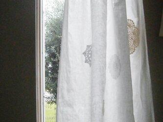 リネン×ドイリーレースのカーテン*@リボン*の画像
