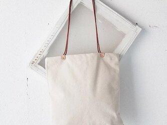 【セール】3980円→2980円イタリアンレザー デザインが一味違うオシャレなエコ トートバッグ 帆布 キャンバス  男女兼用の画像