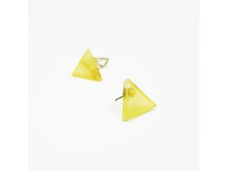 3色から選ぶ[片耳用ピアス]草木染め三角/E-6_T_E-6_E_PDの画像