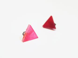 3色から選ぶ[片耳用イヤリング]草木染め三角/E-6_T_PDの画像