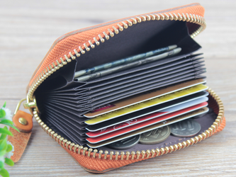 本革 コンパクト収納 カードケース/ミニ財布 ☆Brown☆の画像