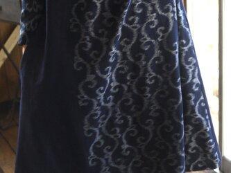 久留米絣2種ハイネックワンピースの画像