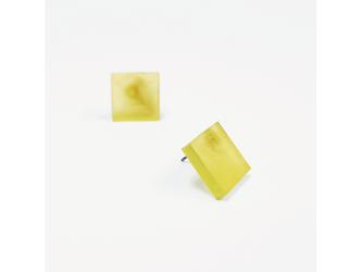 3色から選ぶ[片耳用イヤリング]草木染め四角/E-6_S_PDの画像