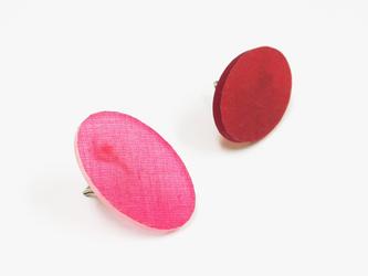 3色から選ぶ[片耳用ピアス]草木染め楕円/E-6_E_PDの画像