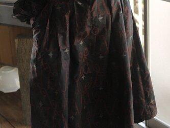 洗い張り銘仙反物からワンピースの画像