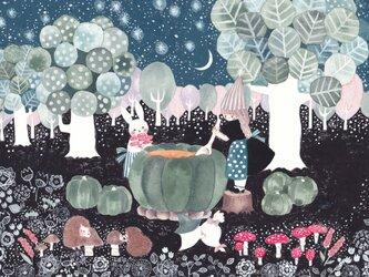 ☆「夜が咲く」ポストカード2枚セット の画像